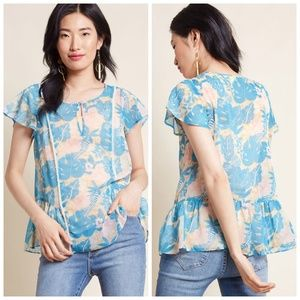 """ModCloth """"Brunch's Best Top in Tropical"""" Blouse"""